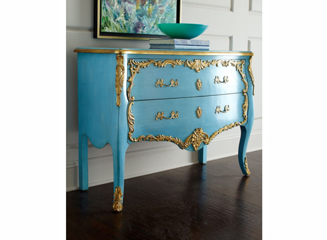 Melea Markell Blue Neoclassical Chest