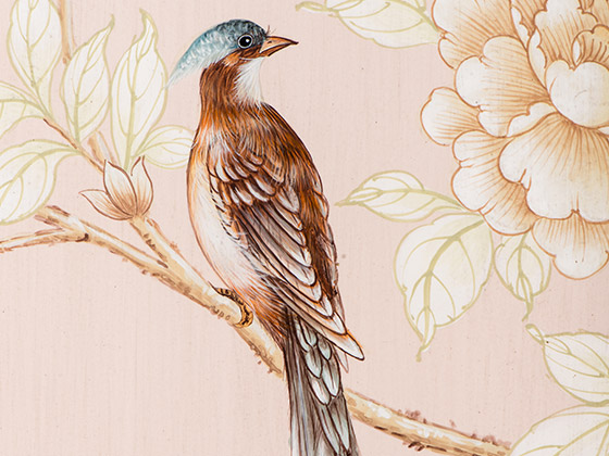 Melea Markell's Floral Panel bird detail