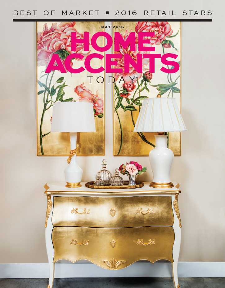 Cover of Home Accents Today Magazine that Melea Markell is featured in.